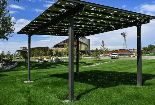 Image of a Parasoleil Eclipse Series™ Pre-Engineered Shade Structure