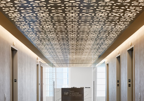 A Parasoleil Ceiling System in the Salvi, Schostok & Pritchard Law Firm