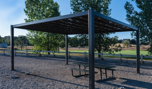 Example of a Parasoleil™ Eclipse Series™ – Framed Solar Shade System