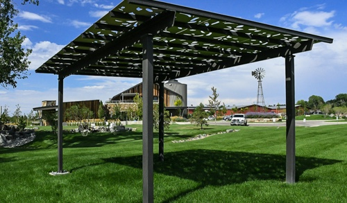 Example of a Parasoleil™ Eclipse Series™ – Unframed Solar Shade System